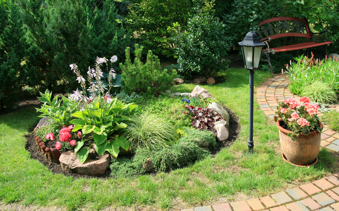 Landscaped Garden Bed