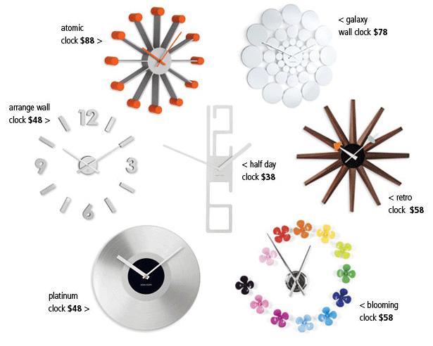 funky clocks